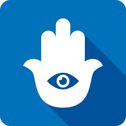Hamsa Hand Icon Silhouette