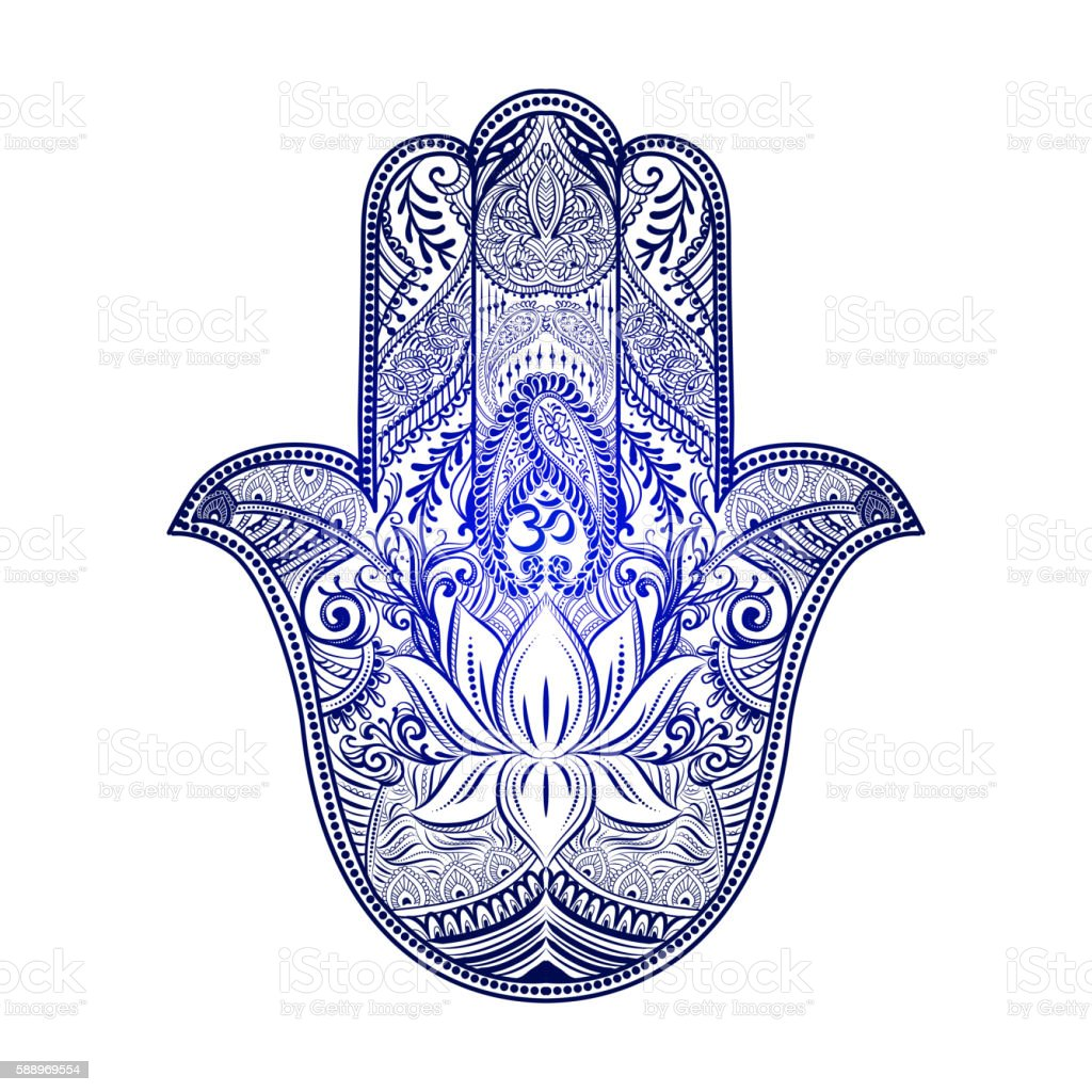 hamsa hand of fatima stock vector art more images of abstract 588969554 istock. Black Bedroom Furniture Sets. Home Design Ideas