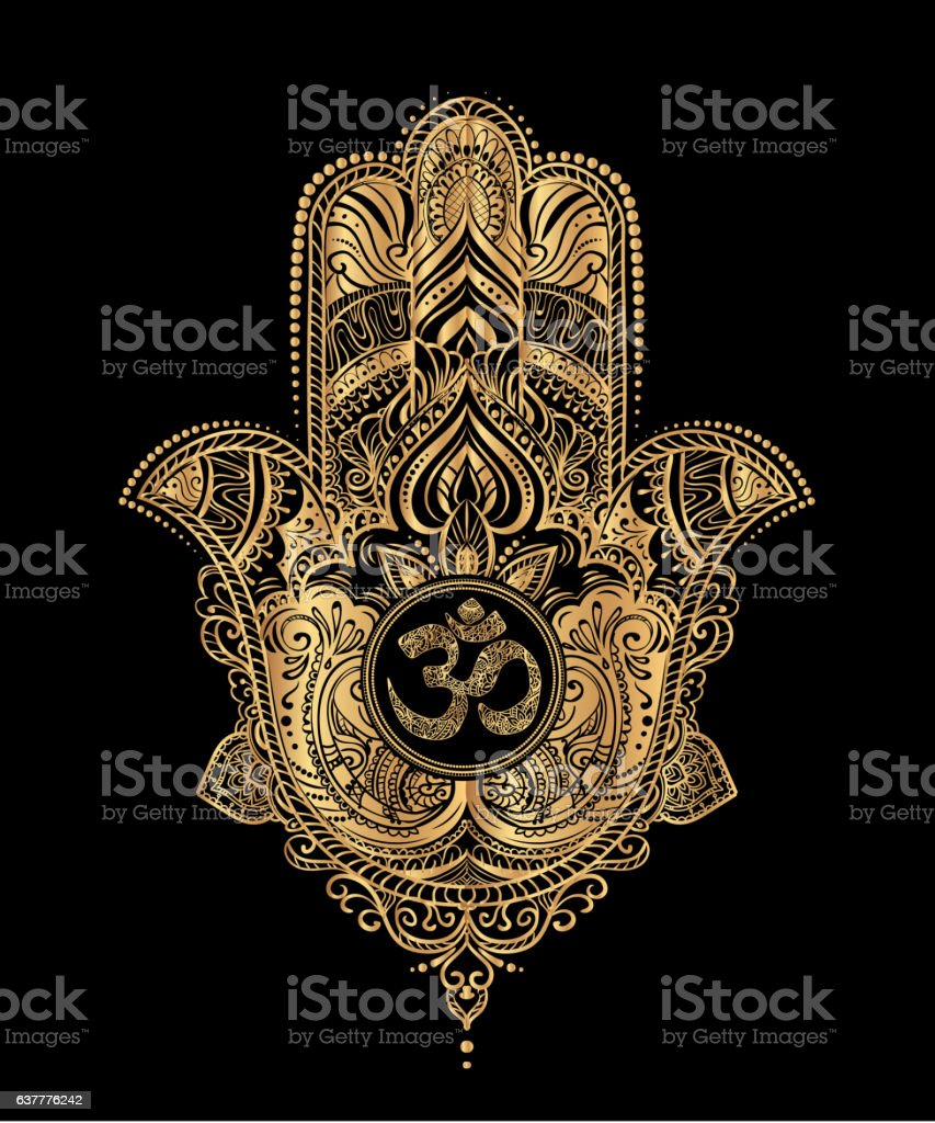 Hamsa Hand Of Fatima Stock Vector Art More Images Abstract Royalty Free Amp