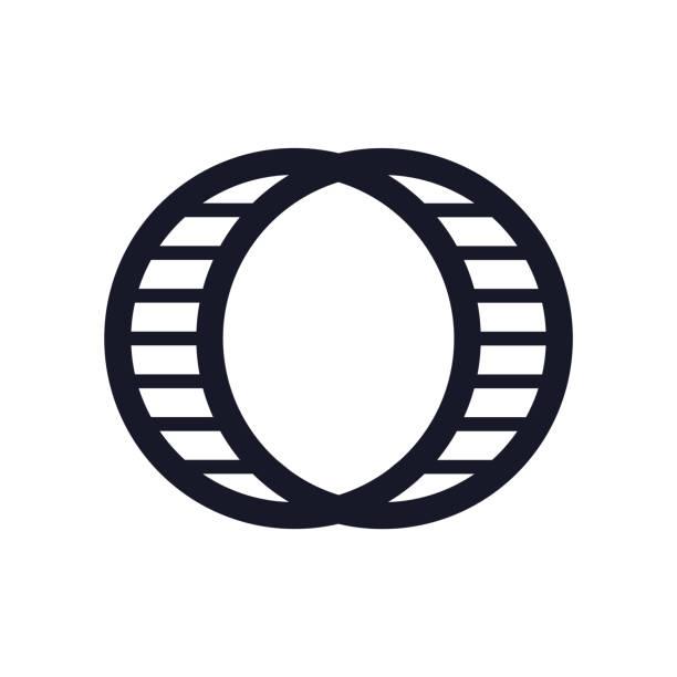 hamster ball symbol vektor zeichen und symbol isoliert auf weißem hintergrund, hamster ball logokonzept - hamsterhaus stock-grafiken, -clipart, -cartoons und -symbole