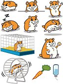 Great illustrations of hamsters. Perfect for the pet lover or a pet shop. EPS and JPEG files included. Be sure to view my other illustrations, thanks!
