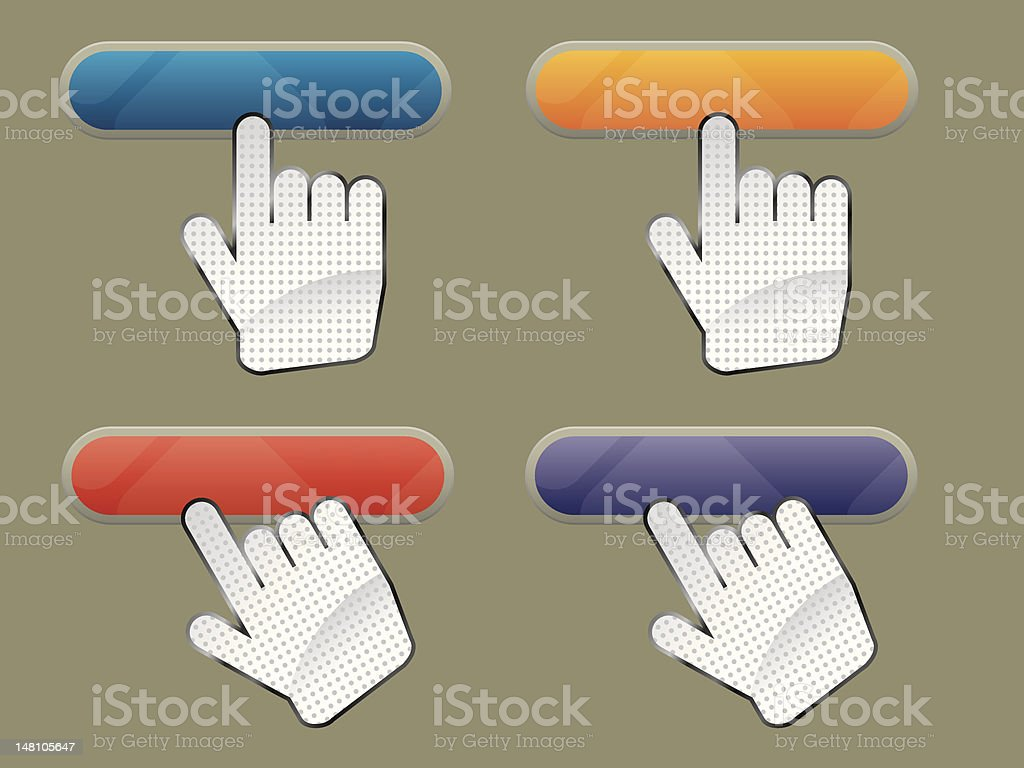 hand and button search royalty-free stock vector art