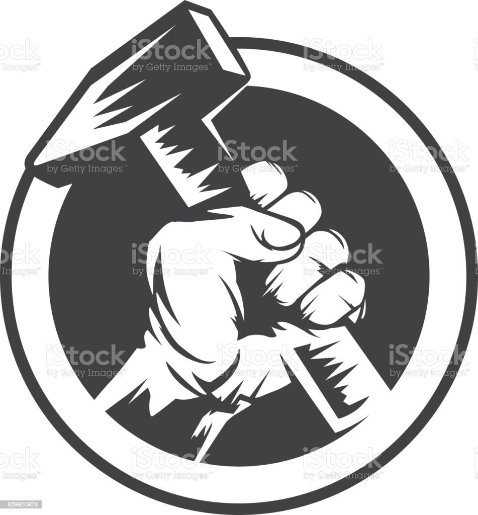 Vector Illustration Hammer: Hand And Hammer Stock Vector Art & More Images Of