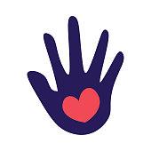 istock Hand and heart shape 1292394224