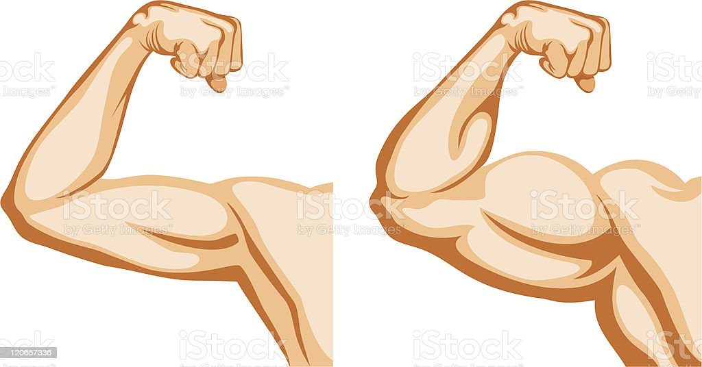 Hand Before and After fitness vector art illustration