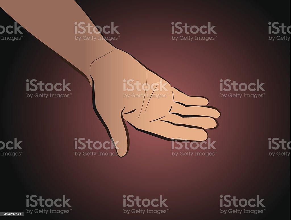 Hand Begging Black royalty-free stock vector art