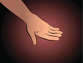 Hand Begging Black