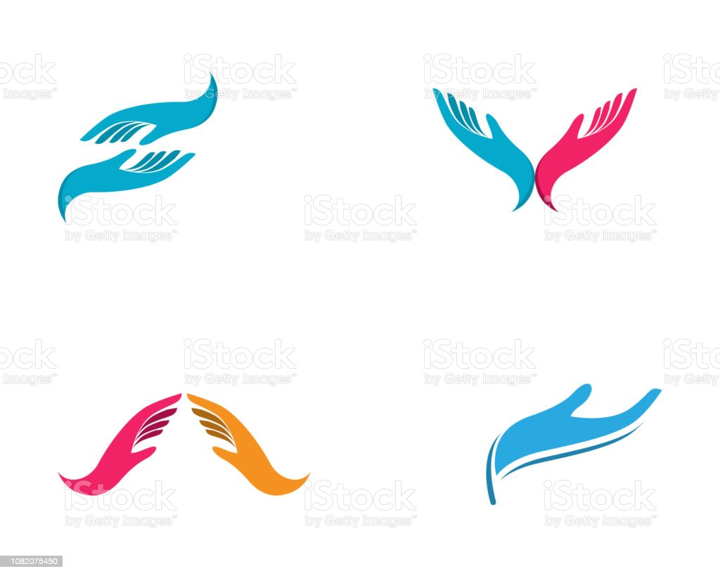 Hand Care Logo Template vector icon Business - Vector royalty-free hand care logo template vector icon business vector stock illustration - download image now
