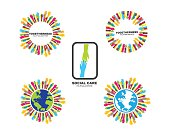 Hand care vector icon illustration design template