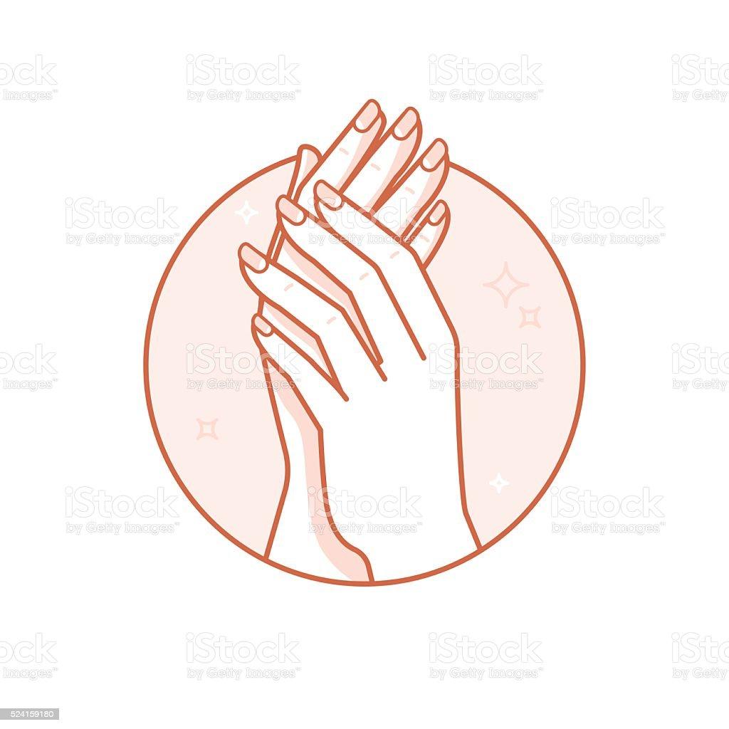 Hand care vector art illustration