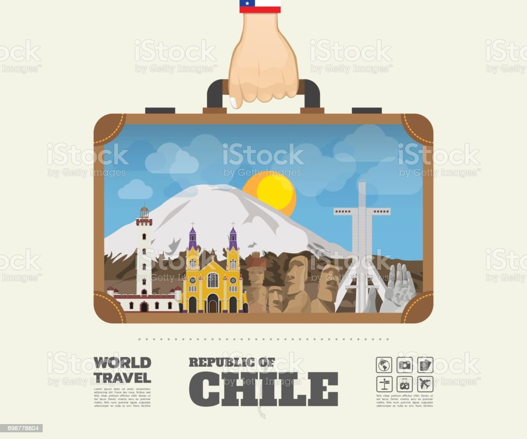 Hand Carrying Chile Landmark Global Travel And Journey Infographic Bag Vector Design Templatevectorillustration Stock Illustration Download Image Now Istock