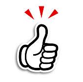 istock Hand cartoon style icon-good 1143265706