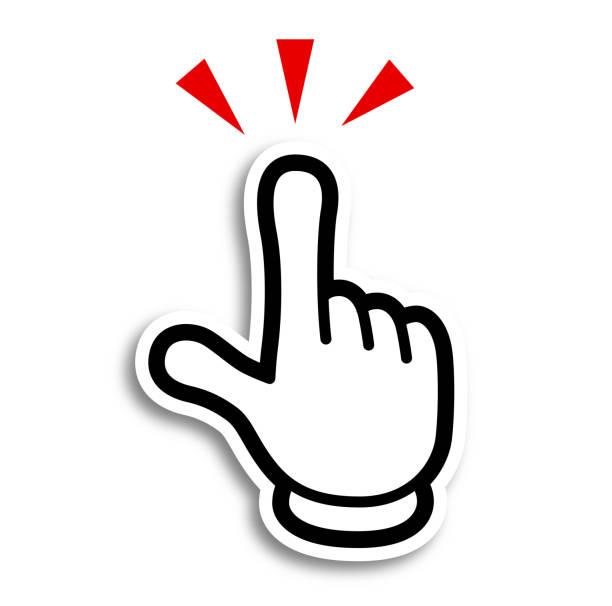 手の漫画のスタイルのアイコン-人差し指 - イラスト点のイラスト素材/クリップアート素材/マンガ素材/アイコン素材