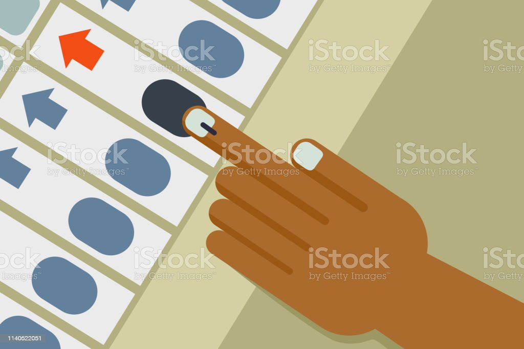 Hand casts vote in an Electronic voting machine royalty-free hand casts vote in an electronic voting machine stock illustration - download image now