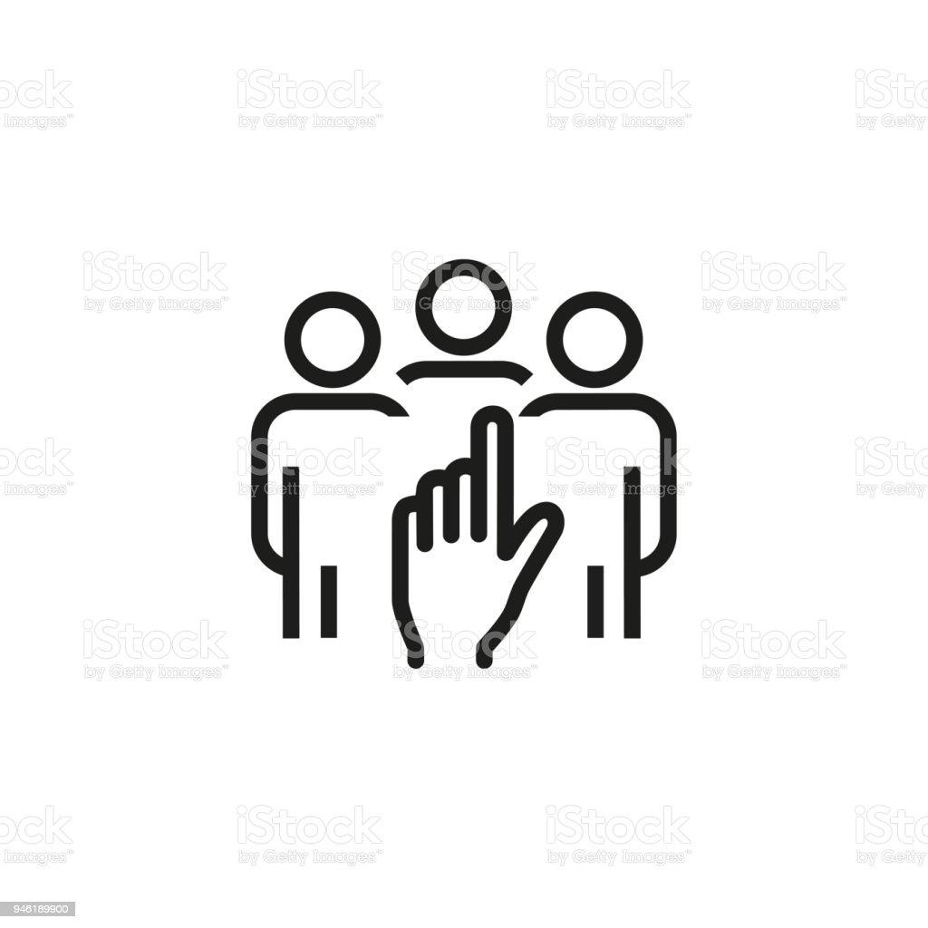 Kiezen Kandidaatpictogram Van Een Hand Hr Management Concept ...
