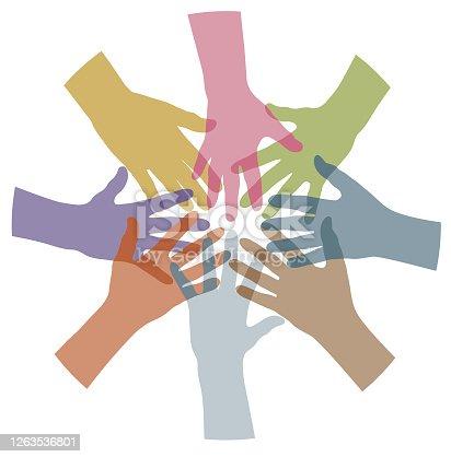 istock Hand circle illustration 1263536801