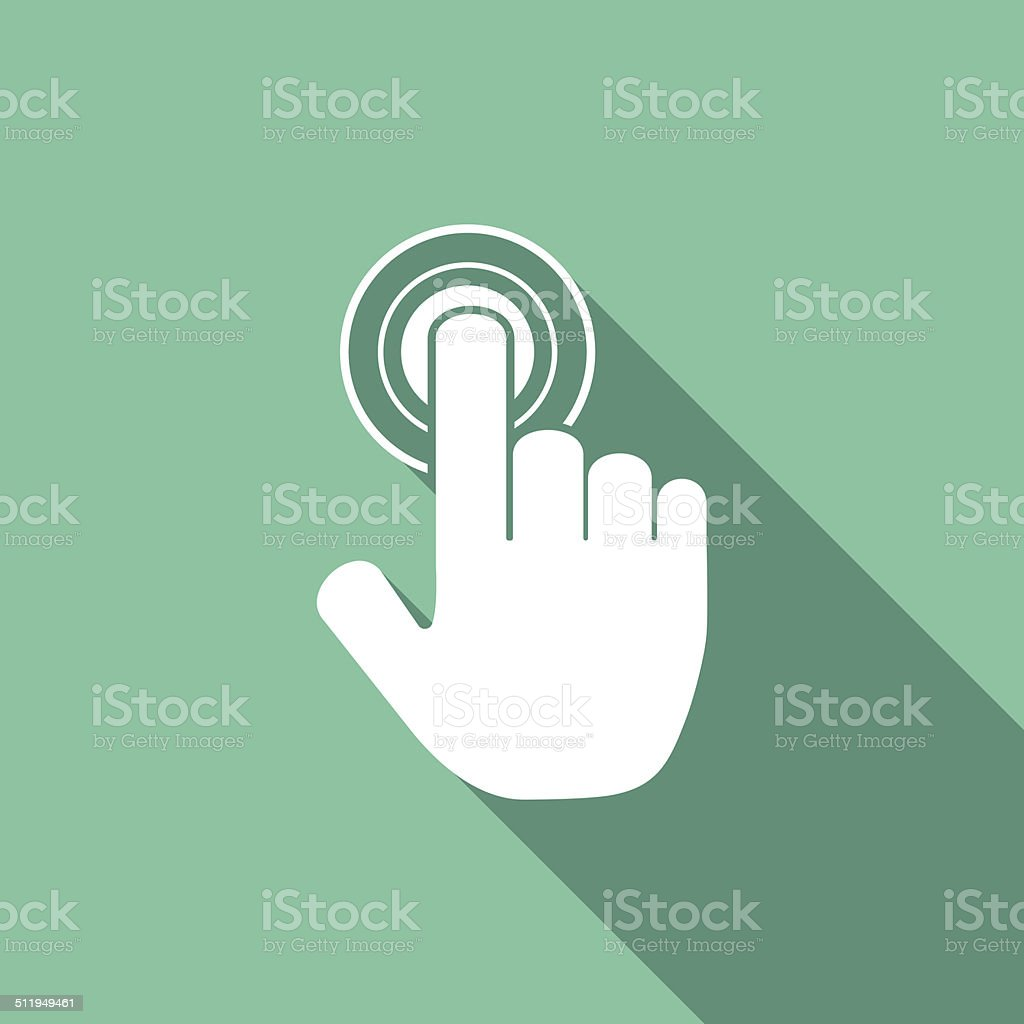 hand click icon vector art illustration