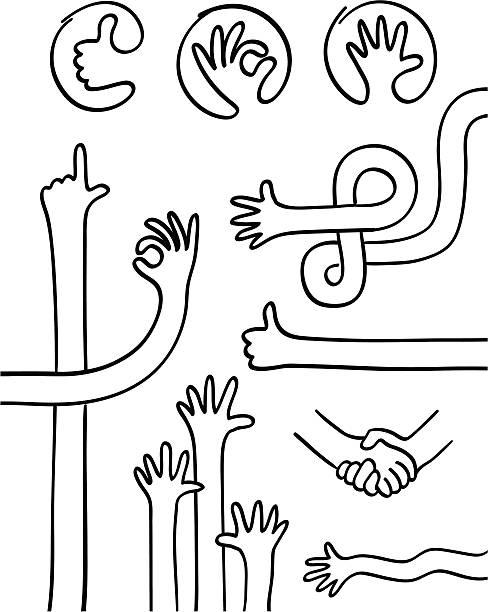 illustrations, cliparts, dessins animés et icônes de collection de la main et des mains - divertissement plaisir