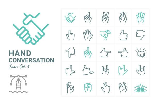 手の会話 - 拳 イラスト点のイラスト素材/クリップアート素材/マンガ素材/アイコン素材