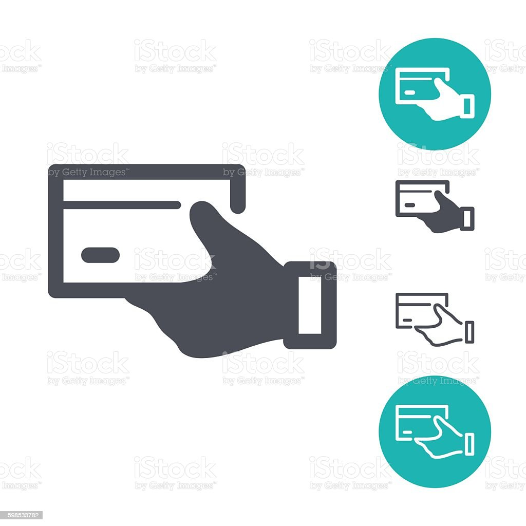 Hand credit card icons hand credit card icons – cliparts vectoriels et plus d'images de acheter libre de droits
