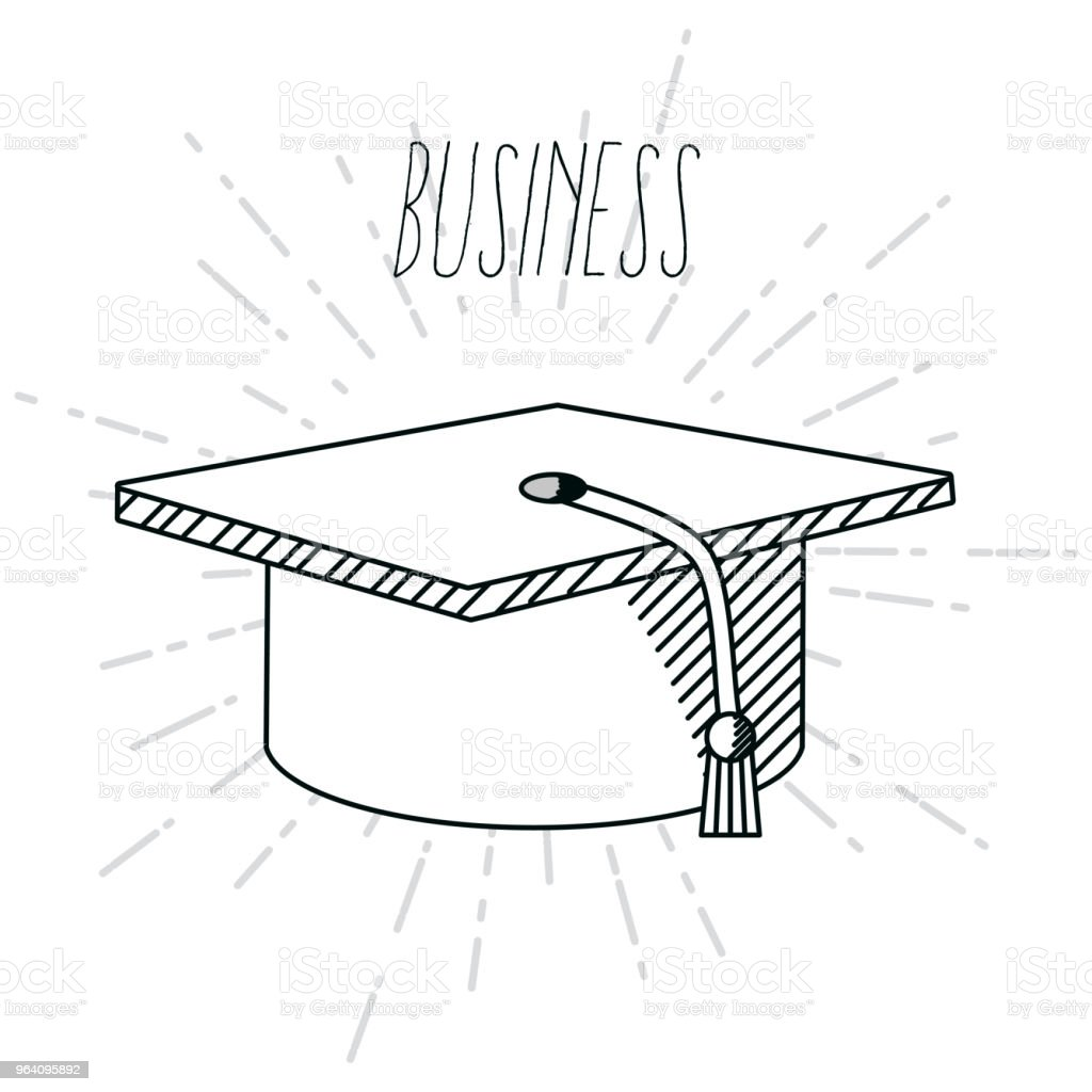 Hand draw business school - Royalty-free Art stock vector