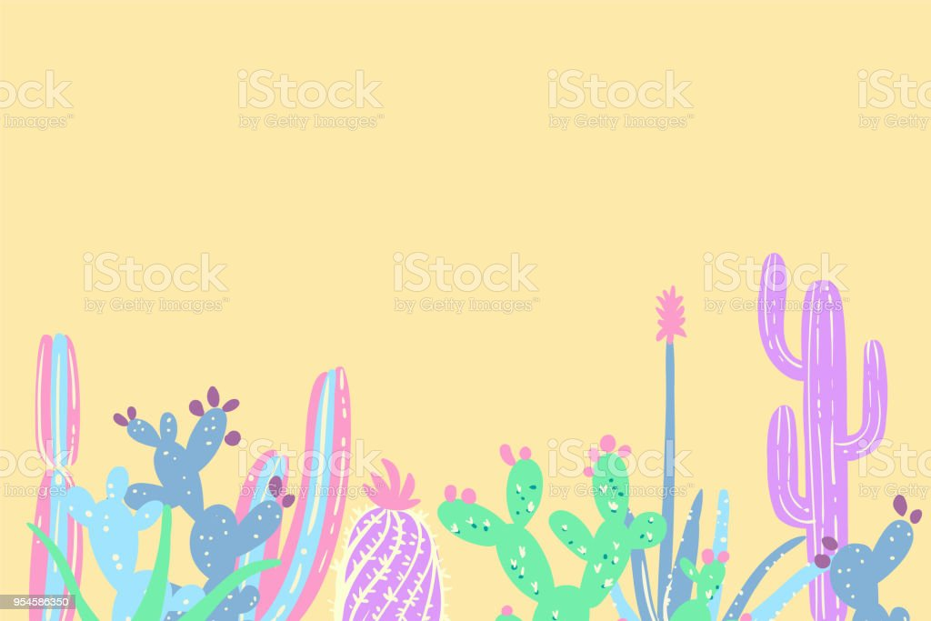 Hand Draw Cactus And Succulents Set Stock Vector Art More Images