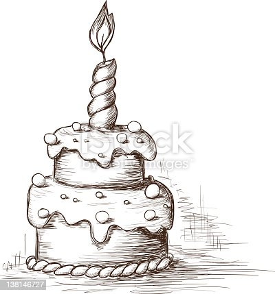 Hand draw cake stock vector art 138146727 istock sciox Image collections
