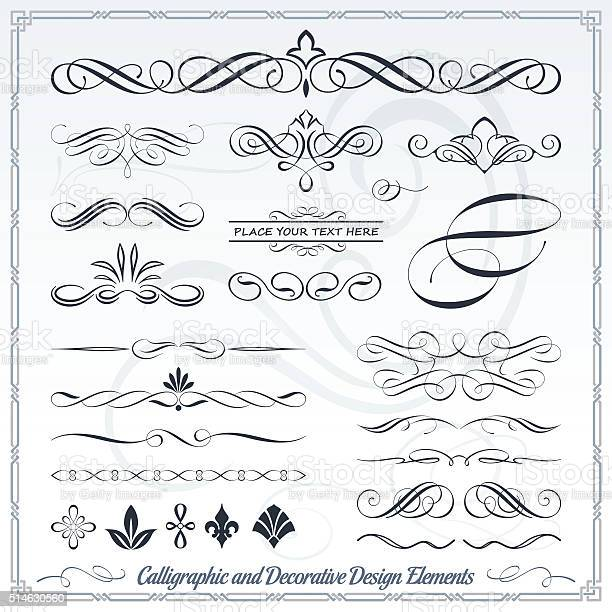 Hand draw calligraphic and decorative design elements vector id514630560?b=1&k=6&m=514630560&s=612x612&h=irzmhk xsllewome6mrff4xek5evclhgw1dovfixubm=