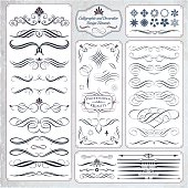 Collection of calligraphic hand draw design elements. Each element are made with very smooth curves, no glitch, using the minimum set of anchor points. Most of them are made with full lines, no cuts, resulting excellent printouts. Give great scalability, decorative and a professional looking for documents and graphic illustrations.