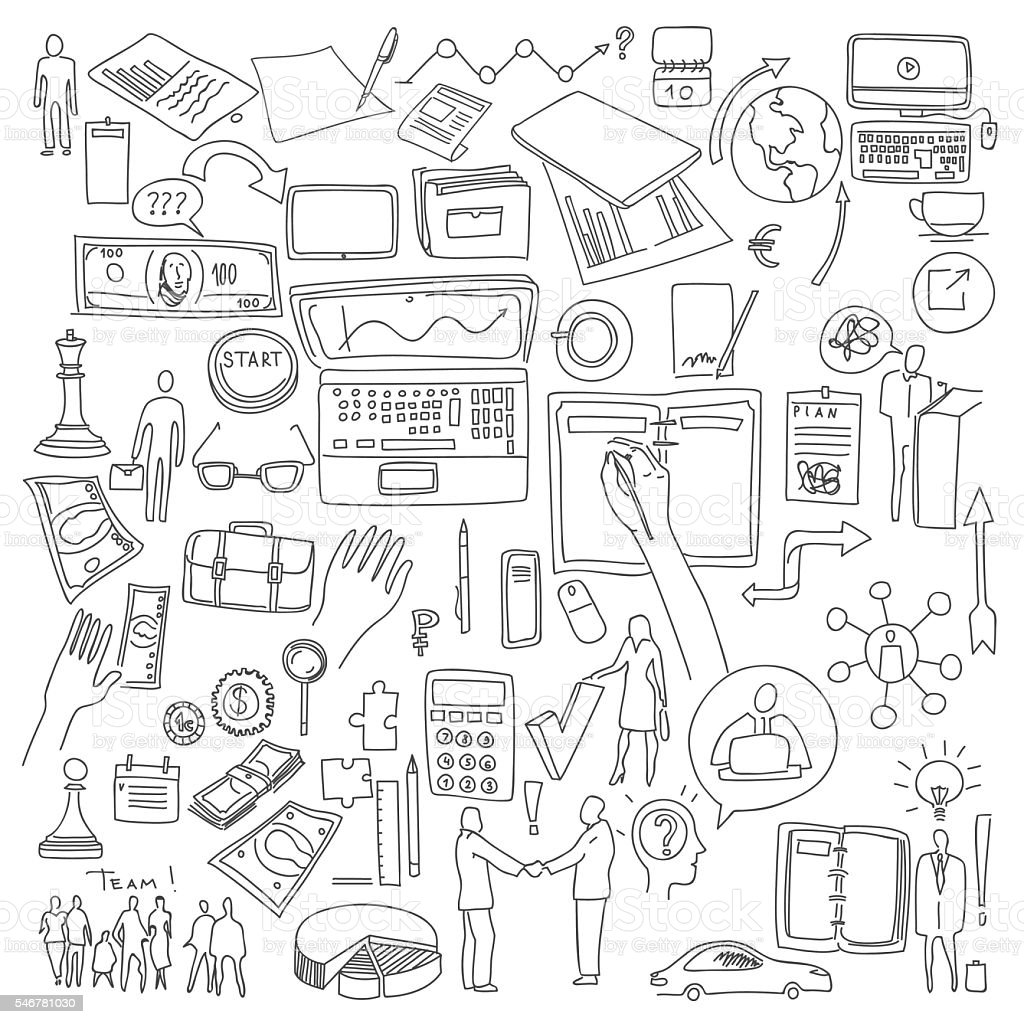 hand draw doodle elements business finance chart graph stock vector Order of Draw for Phlebotomy hand draw doodle elements business finance chart graph illustration