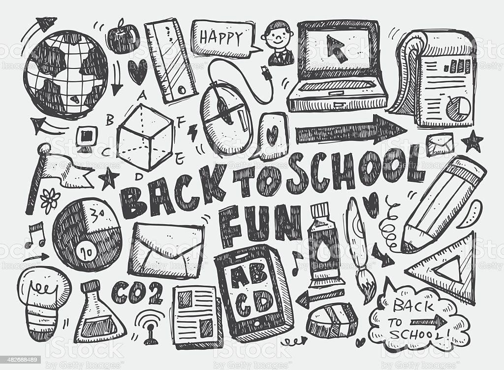 Hand Zeichnen Doodle Schoolelement Stock Vektor Art und mehr Bilder ...