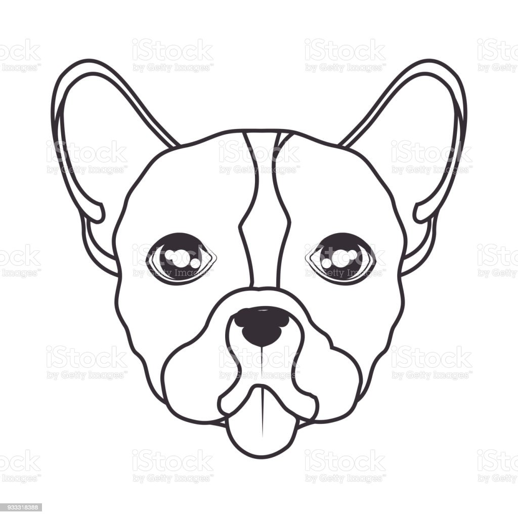 hand draw face dog icon stock vector art more images of animal