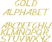 hand draw gold alphabet letters under the classical bias