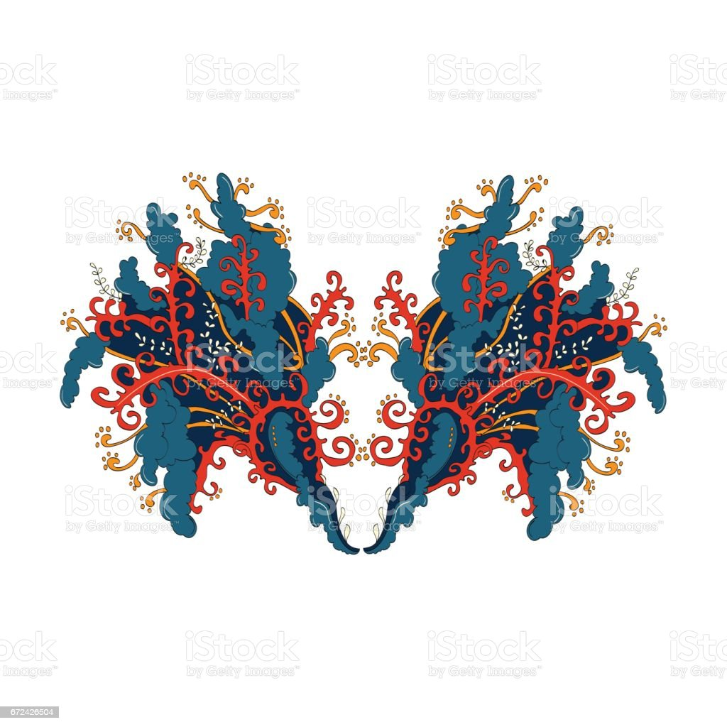 Hand Draw Illustration Coloring Book Doodle Abstract Print With ...