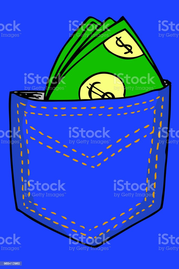 hand draw Money At Back Pocket hand draw money at back pocket - stockowe grafiki wektorowe i więcej obrazów bankowość royalty-free