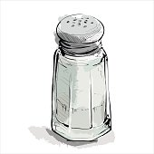 Hand draw of salt shaker.