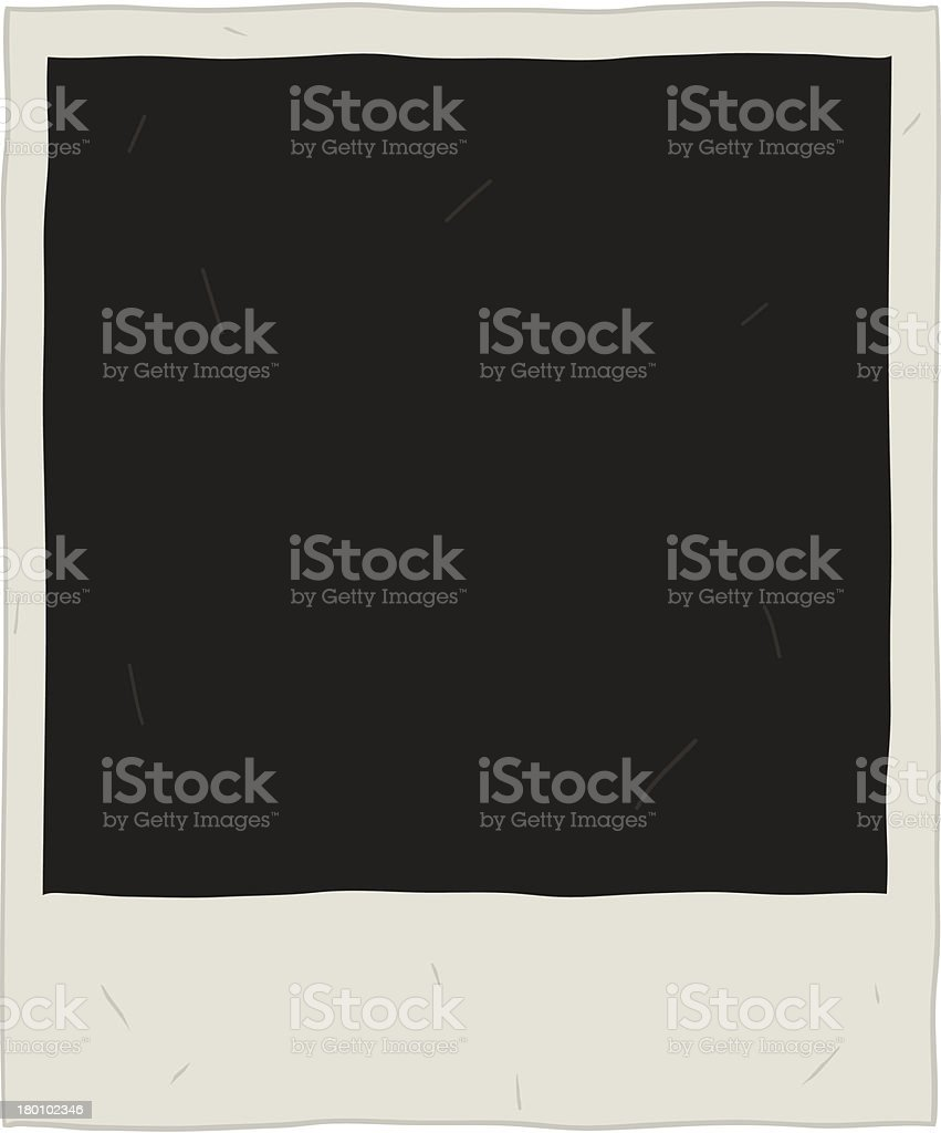 Hand draw old instant photo royalty-free stock vector art