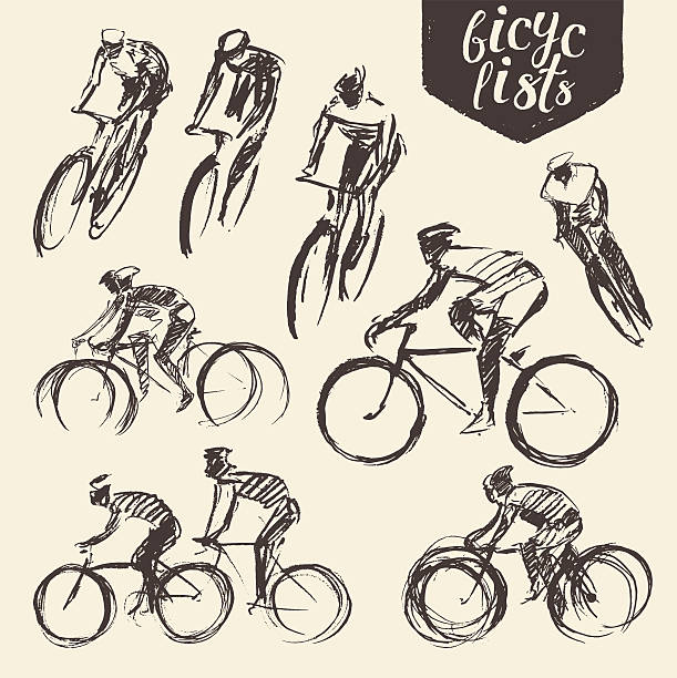 478 Cycling Bicycle Pencil Drawing Cyclist Illustrations Royalty Free Vector Graphics Clip Art Istock