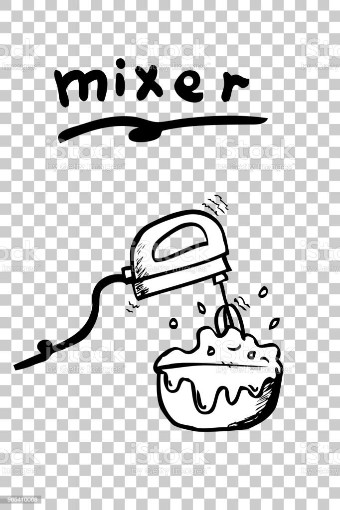 Hand Draw Sketch, Mixer royalty-free hand draw sketch mixer stock vector art & more images of appliance