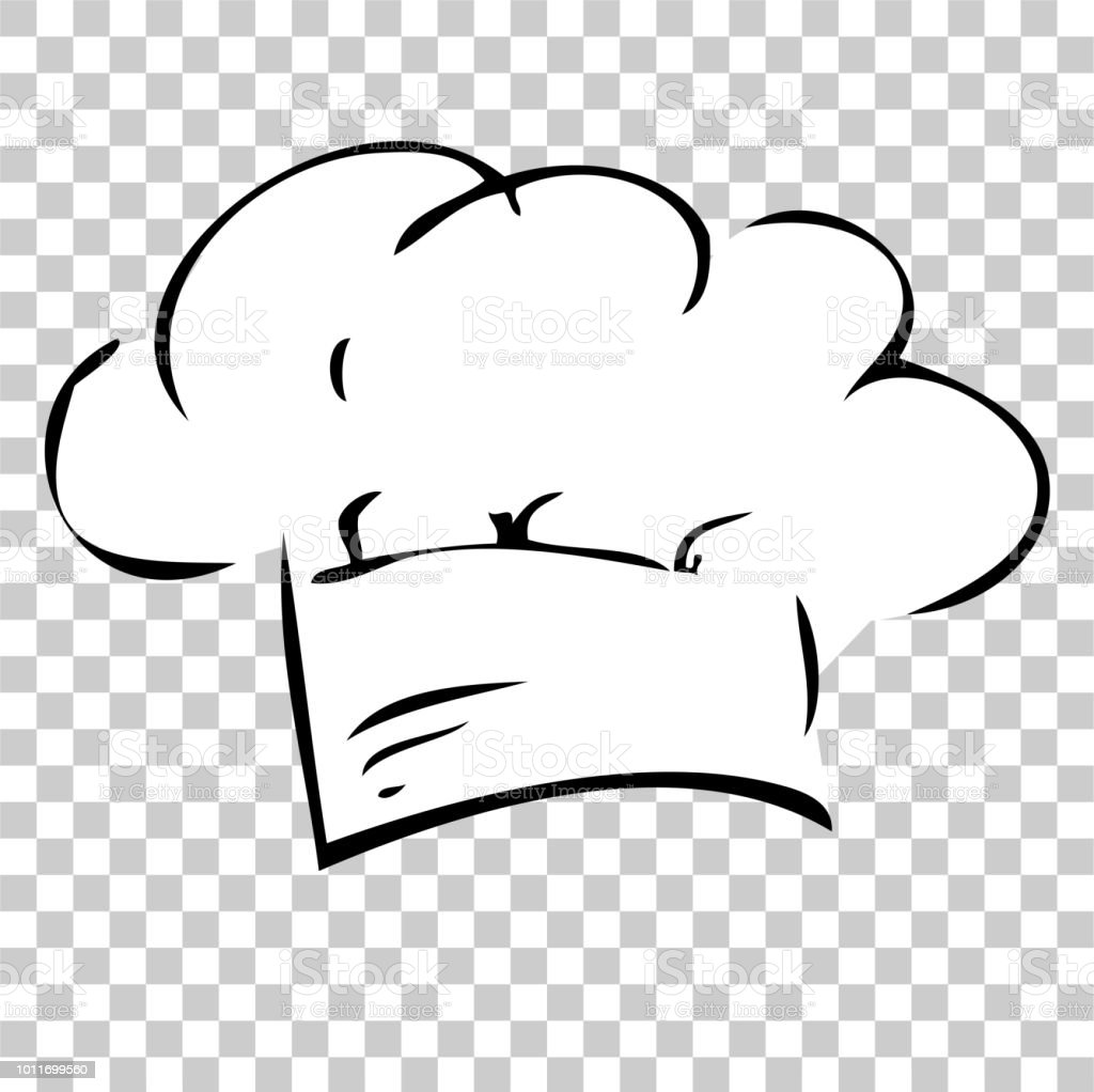 più economico uk sporco sulle immagini di piedi di Hand Draw Sketch Of Chef Hat At Transparent Effect Background ...