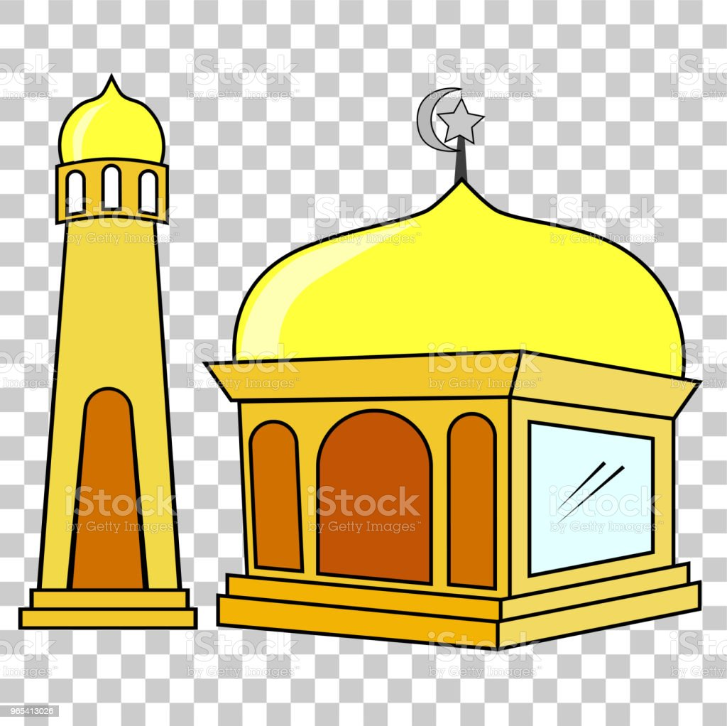 Hand Draw Sketch of Mosque at transparent effect backgroun royalty-free hand draw sketch of mosque at transparent effect backgroun stock vector art & more images of art
