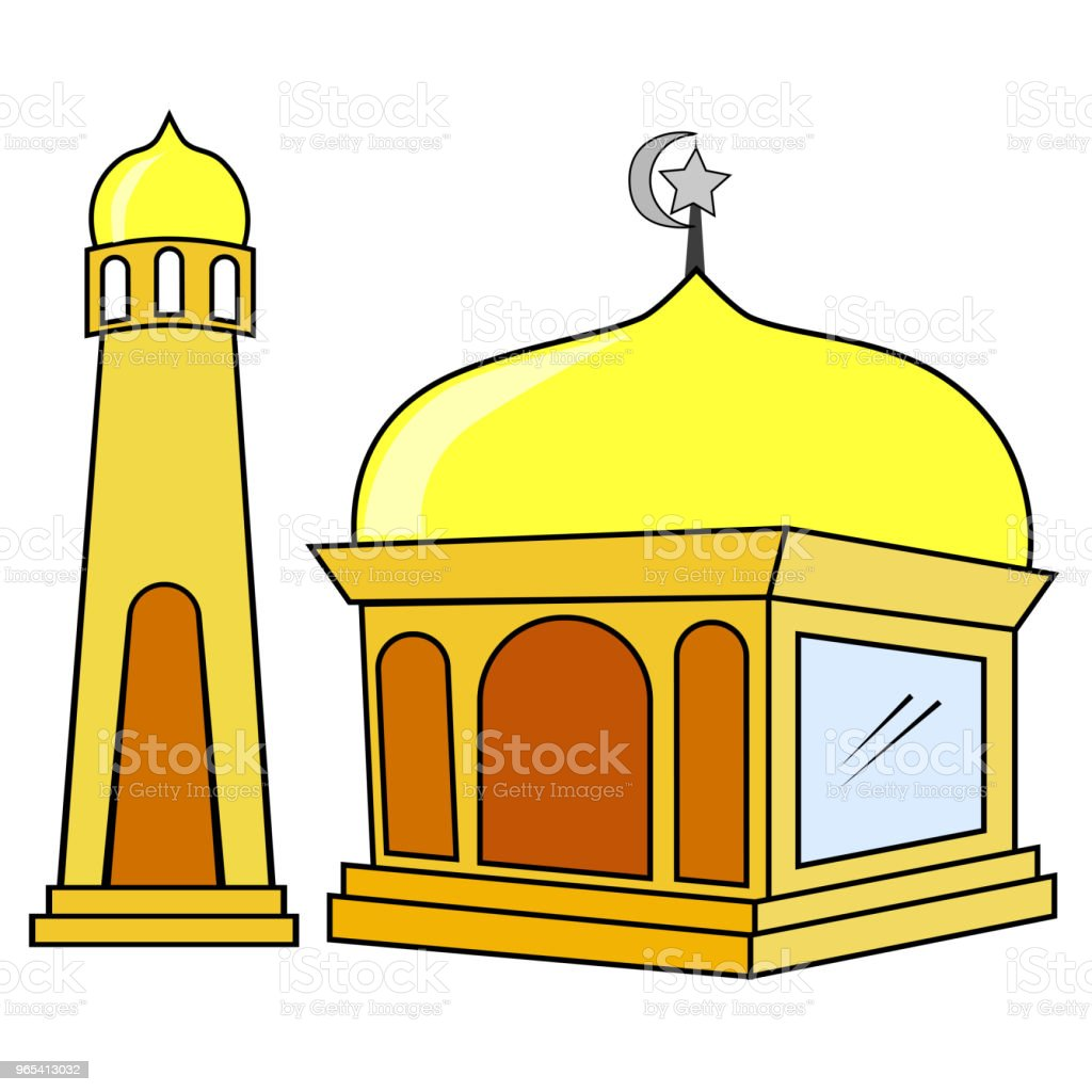Hand Draw Sketch of Mosque royalty-free hand draw sketch of mosque stock vector art & more images of art