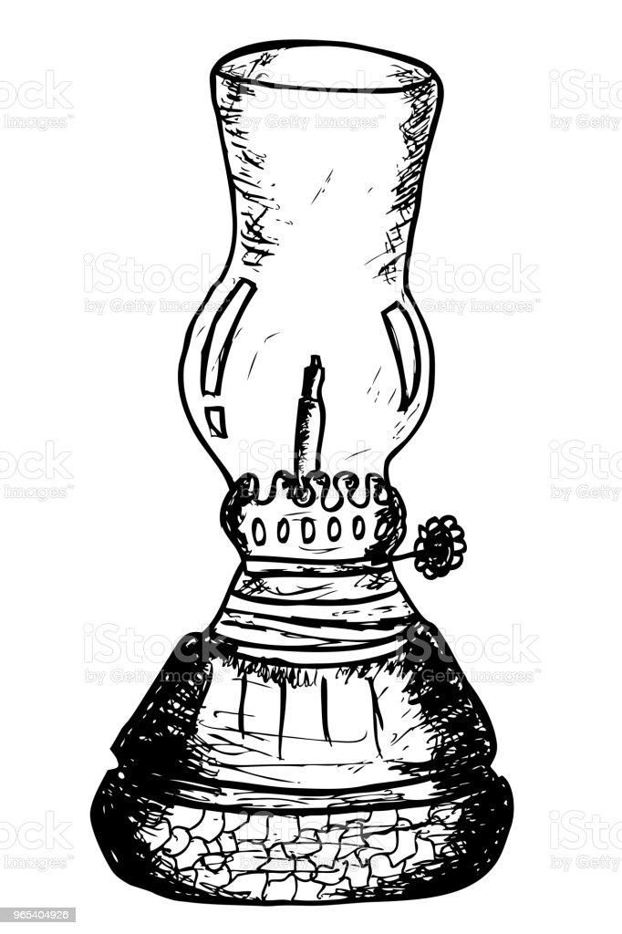 hand draw sketch of traditional oil lamp, isolated on white hand draw sketch of traditional oil lamp isolated on white - stockowe grafiki wektorowe i więcej obrazów antyczny royalty-free