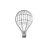 Hand draw sketch Transportation Travel icons balloon