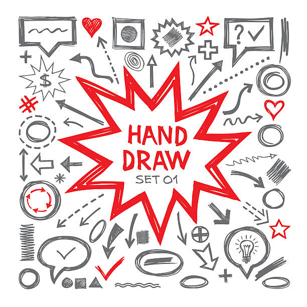 Hand zeichnen Skizze Vektor-Illustrationen. – Vektorgrafik