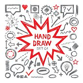 Hand draw sketch vector illustrations.
