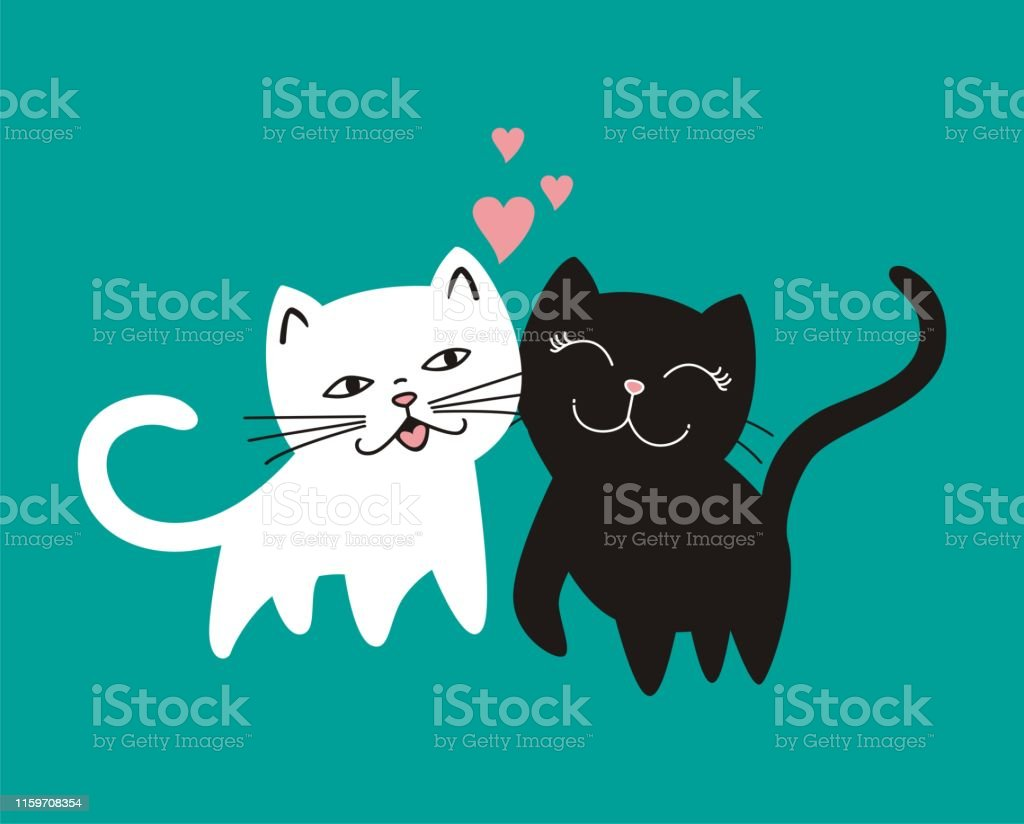 Hand draw vector of cat .Doodle cartoon style.