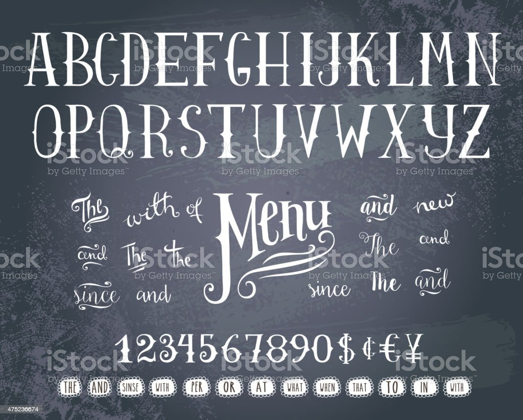 Hand drawing alphabet vector art illustration