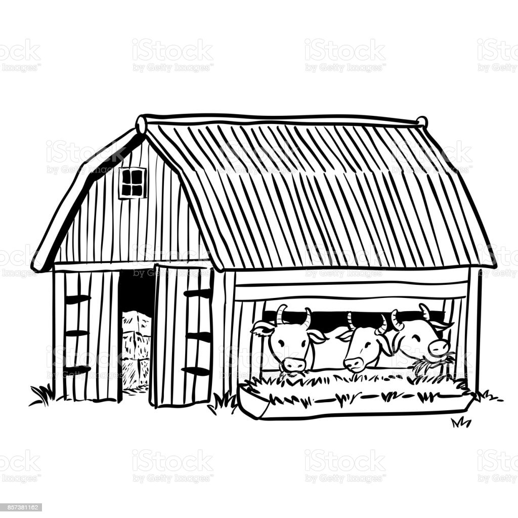 Royalty Free Clip Art Of Ranch Home Vector Images Rh Istockphoto Com Barnyard Clipart Black And White