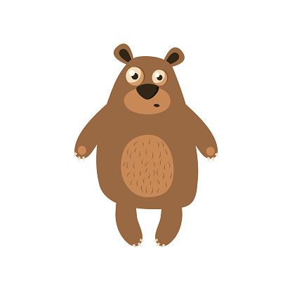 Hand drawing bear print design with slogan. Vector illustration design for fashion fabrics, textile graphics, prints
